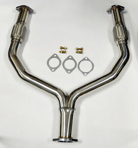 Y Pipe Catless Straight Downpipe Exhaust FITS Nissan 370z Infiniti G37