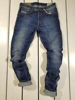 New Diesel Men's Jeans W27 L32 Tepphar 0839H Slim Carrot Stretch Blue