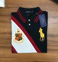 Ralph Lauren Men's Polo Tipped Collar Cotton Polo Shirt Slim Fit New Collection