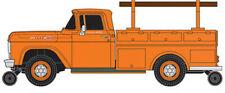 Classic-Metal-Works F-100 Utility Truck Orange - Ho Scale Model Railroad