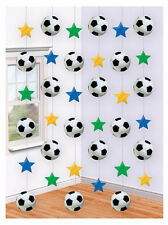 7ft Football Soccer Birthday Party Hanging String Decorations Accessories 6 Pack