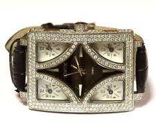 Ice Tek Quintempo Swiss 7.5ct diamond mens watch 110.6g estate vintage antique