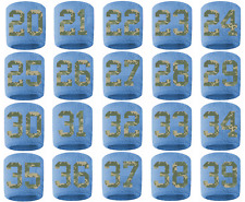 #20-39 Number Sweatband Wristband Football Baseball Light Blue Camo Camouflage