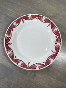 STERLING CHINA Toffenetti NEW YORK WORLDS FAIR 1940 Plate Restaurant Ware Red Wt