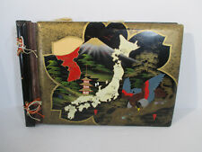 Scrapbook Vintage Lacquer Cover Japan Korea Mt Fuji Unused Black Pages Tassels