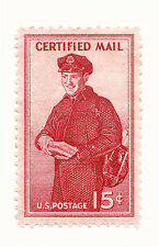#FA1 1955 15c CERTIFIED MAIL STAMP ISSUE MINT-Hinged