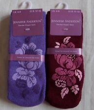 Jennifer Anderton Womens Ladies Thermal Gripper House Bed SLIPPER Socks Plum Purple