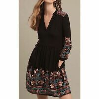 Anthropologie Floreat Avery Embroidered Dress Women's Size XS Floral Boho