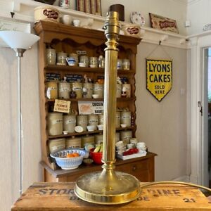 Vintage Tall Brass Ornate Corinthian Column Table Lamp Base – Great!