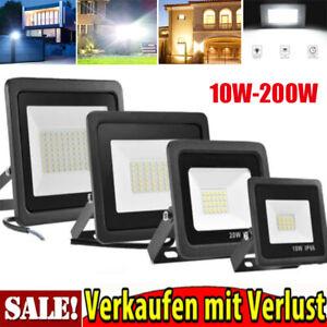 10-200 Watt LED Fluter mit Bewegungsmelder Außenlampe IP66 Flutlicht Strahler DE