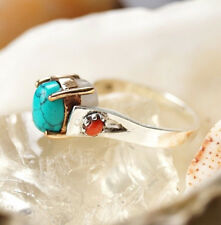 Silberring 63 Mondstein Weiß Bunt Türkis Koralle Rot Elegant Krone Silber Ring