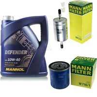 Motor-Öl 5L MANNOL Defender 10W-40 +MANN-FILTER Peugeot Boxer Bus 230P 2.0i