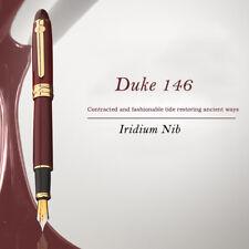 Duke 146 Fountain Pen, Original European Taste Pen Noble Red Iridium M Nib