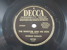 US 78 rpm Florian ZaBach: The Whistler and his Dog / Waltzing Cat, Decca 27729