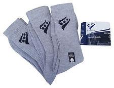 RUCANOR Grey Triple Pack Sport Socks With Logo UK 3 - 5 MRRP £3-99