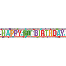 Amscan 9900031 2.7 M Happy 40th Birthday Holographic Foil Banner