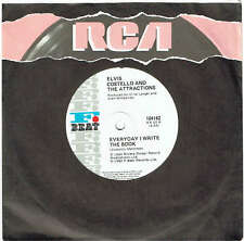 """ELVIS COSTELLO AND THE ATTRACTIONS - EVERYDAY I WRITE THE BOOK - 7"""" RECORD 1983"""