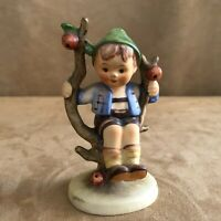Hummel Apple Tree boy Figurine Goebel vintage W Germany 142 sitting in 2/0