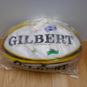 GILBERT RUGBY BALL - SIZE 5 - OFFICIAL VERY RARE SOLVITE EDDITION 9-10 PSI