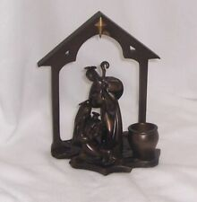 PartyLite Holy Night Tealight Holder and Holy Night Creche P8262 and P9433