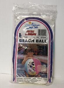 "Vintage 1991 Mickey & Friends Beach Ball Intex 20"" NEW Sealed"