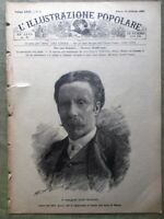 L'illustrazione Popolare 28 Febbraio 1886 Manzotti Elevatore Raffaello Filiberto