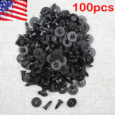 100 x Fastener Mud Flaps Bumper Fender Push Clips Plastic Rivet 8mm for Nissan