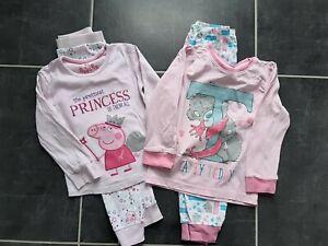 Girls pyjamas 3-4 years bundle Peppa pig tatty teddy