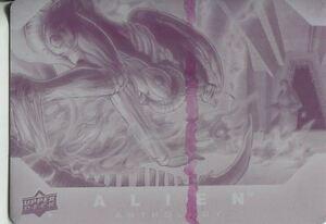 Upper Deck Alien Anthology Base Card Printing Plate #66 (Magenta)