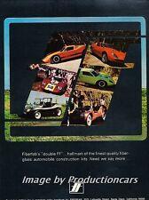 1969 Fiberfab Dune Buggy GT12 Kit - Original Advertisement Print Art Car Ad J698