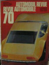 * Automobil-Revue  Katalog 1970   Catalogue Revue Automobile *