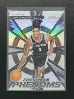 2018-19 Prizm Lonnie Walker RC, Rookie Freshman Phenoms Silver, Spurs