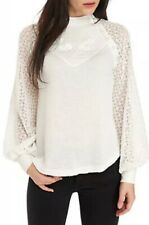 Free People Sweetest Thing Thermal Top (Ivory) Women's Clothing Size S NWT $78