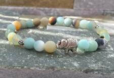 Handmade Monk Stretchy Chakas pray Amazonite menmm beads men bracelet