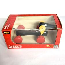 BRIO Wooden Pull Along Dachshund 30332 New in Box