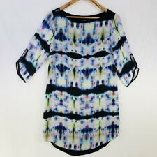 Portmans Womens Dress Size 10 Tunic Slip Tie Dye 3/4 Sleeve Work Party Career