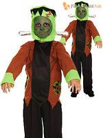 Age 4-12 Boys Frankenstein Costume Halloween Horror Kids Child Fancy Dress Party