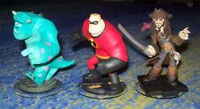 Disney Infinity mehrere Figuren Sulley Mr. Incredible Jack Sparrow alle Systeme
