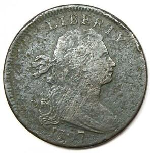 1797 Draped Bust Large Cent 1C S-130 - VF Details - Rare Date Coin!