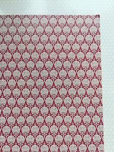 "Dollhouse Miniature Wallpaper Art Nouveau Style ""Ottoman Red"" 1:12 Scale"