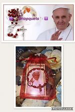 Pope Francis Rosary  Bracelet Prayer Blessed cards 🎁🙏 Miracle Prayer 🎁 Prof