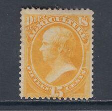 US Sc O7 MLH. 1873 15c Agriculture Dept Official