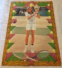 Björn Borg 1976 Tennis Wimbledon Grand Slam - Swedish Poster Magazine 1970s