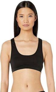 Skin Women's 186284 Solange Crop Top Black Sports Bra Underwear Size L
