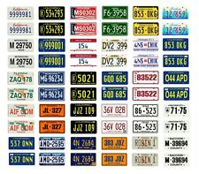 1/25 1/24 scale model car assorted TV movie police car license plates tags 1:25