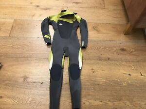 quiksilver wetsuit 3/2 Syncro Royal Chest Zip Youth Size 8