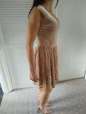 Gold Velvet And Lace Skater Dress size 8 Asos New With Tags!!