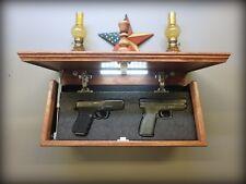 """23"""" X 10"""" Oak  Hidden Compartment Tactical Gun Concealment Shelf"""
