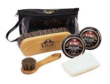 Kiwi Leather Deluxe Shine Kit Black Wax Brush Buff Polish Shine Shoe Boot 13511