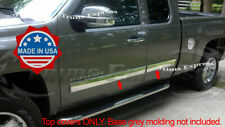 "2009-2013 Chevy Silverado Extended Cab Body Side Molding Overlay 4.25"" Trim"